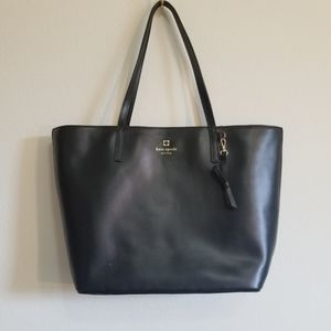 Kate Spade  Sawyer Street Maxi Black Leather Tote